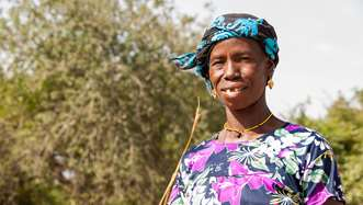 Close up of Habi, a woman working with Tree Aid in Mali.