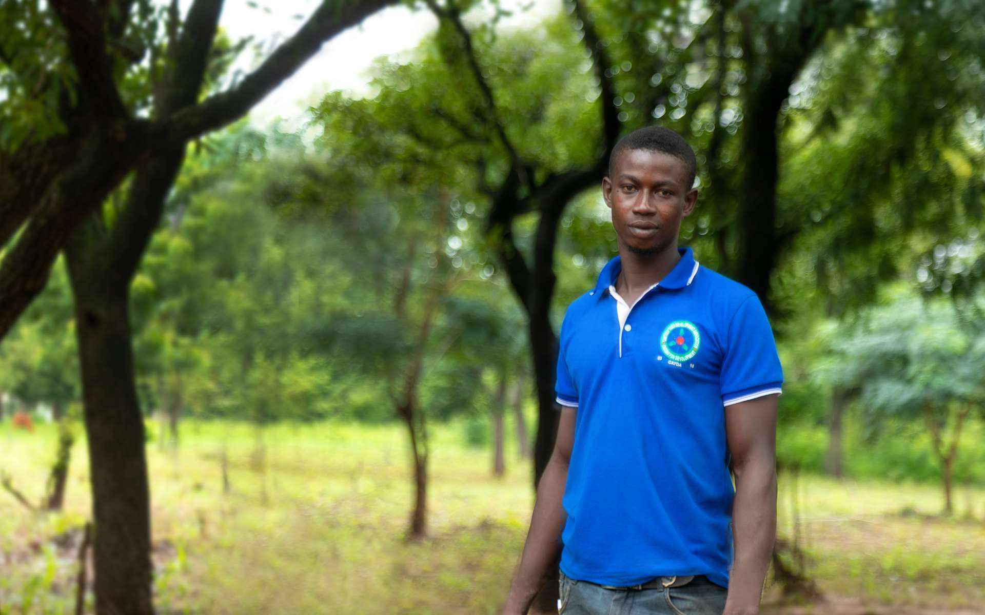 Achiri, a man in northern Ghana, is taking part in Tree Aid's cashew enterprise project.